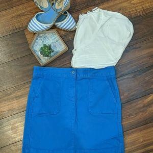 Loft Blue Dyed Denim Mini